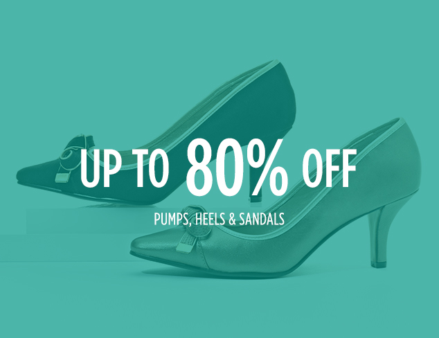 Up to 80% Off: Pumps, Heels & Sandals at MYHABIT