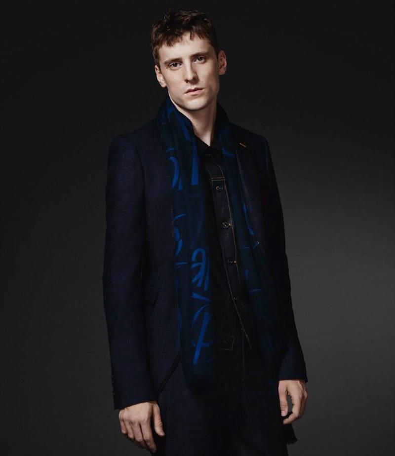 Burberry XO Barneys New York Denim Two-Button Sportcoat