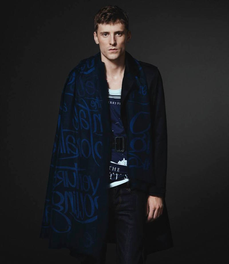Burberry XO Barneys New York Theatres of London-Print Scarf