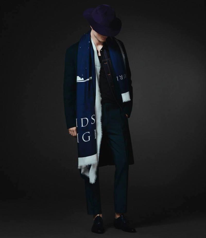 Burberry XO Barneys New York Velvet-Collar Chesterfield Coat