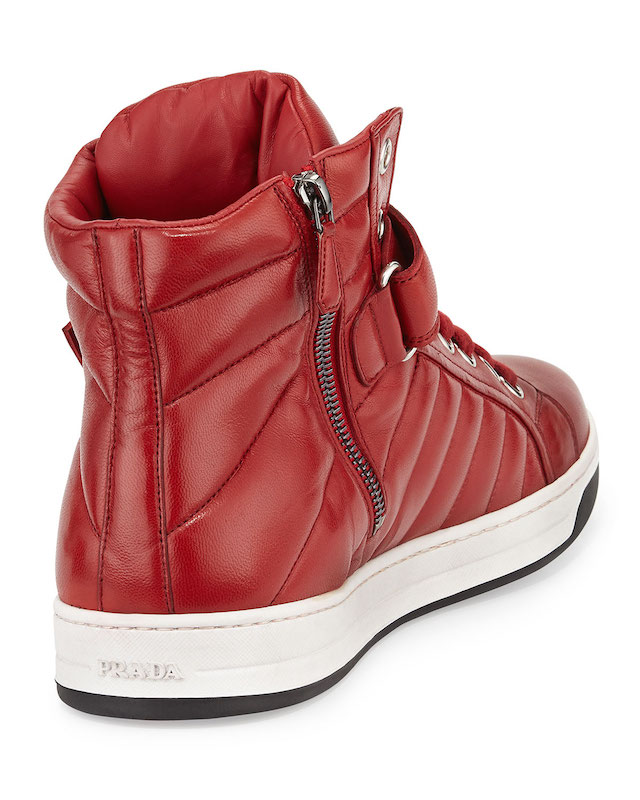 Prada Quilted Nappa Leather High-Top Sneakers_4