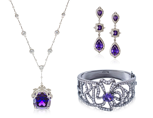 Shades of Purple: CZ by Kenneth Jay Lane at MYHABIT