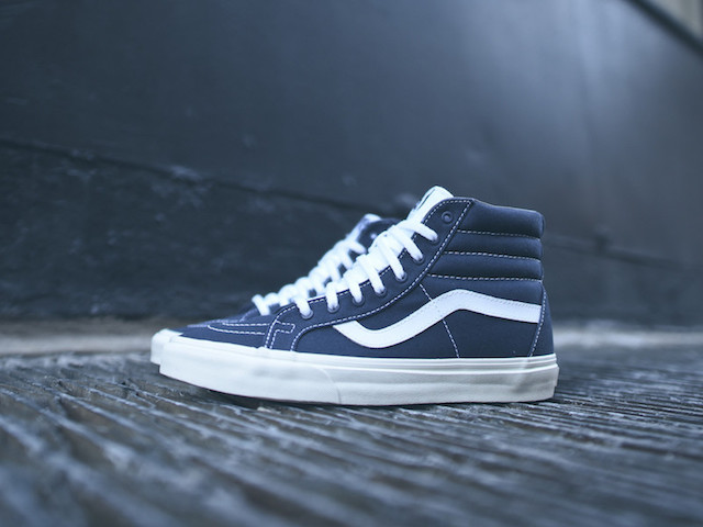 Vans SK8-Hi Reissue 10 Oz Canvas Dress Blues_1
