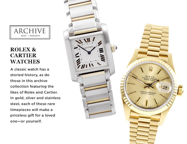ARCHIVE: Rolex & Cartier Watches at MYHABIT