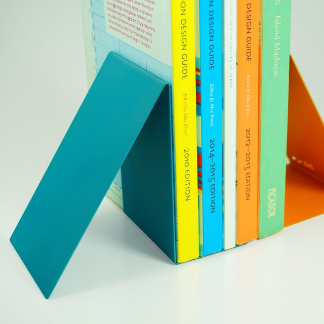 Block Designs Bookend Pair