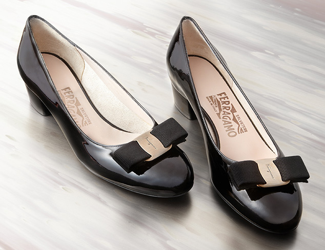 Designer Flats feat. Ferragamo at MYHABIT