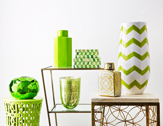 Feeling Lucky: Green & Gold Furniture & Décor at MYHABIT