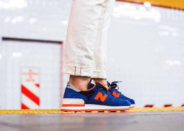 J.Crew x New Balance 990 V.1 Pack in Indigo Flame