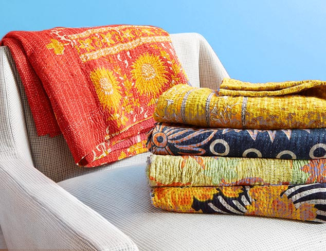 Kantha Throws at MYHABIT