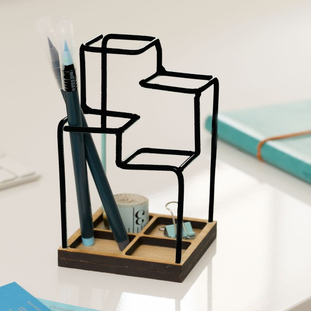 Block Designs Sketch Desk Tidy