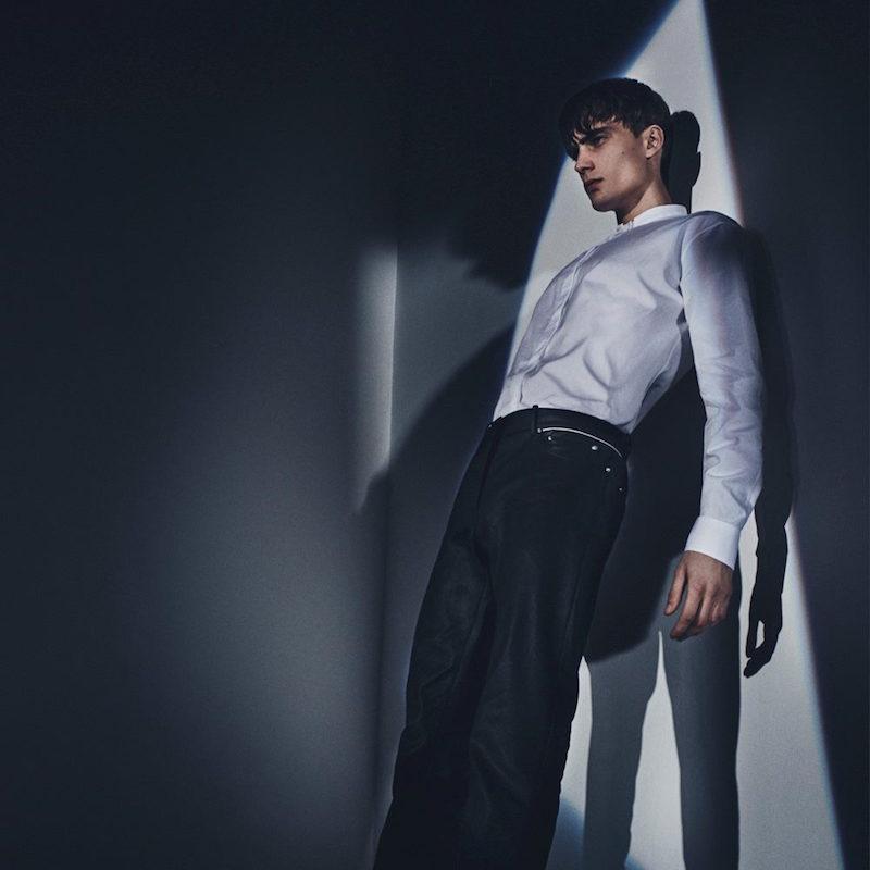 Balenciaga Grandad-collar Cotton Shirt