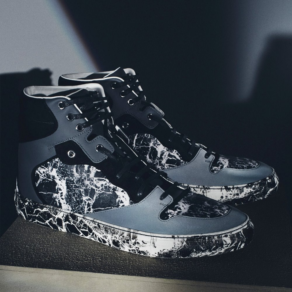 Balenciaga Marble-effect High-top Trainers