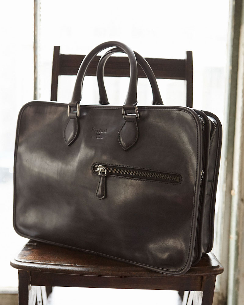 Berluti Double-Zip Leather Briefcase