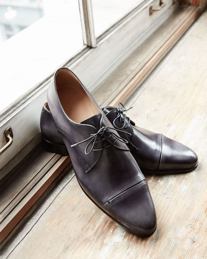 Berluti Gaspard Slash-Toe Leather Shoe
