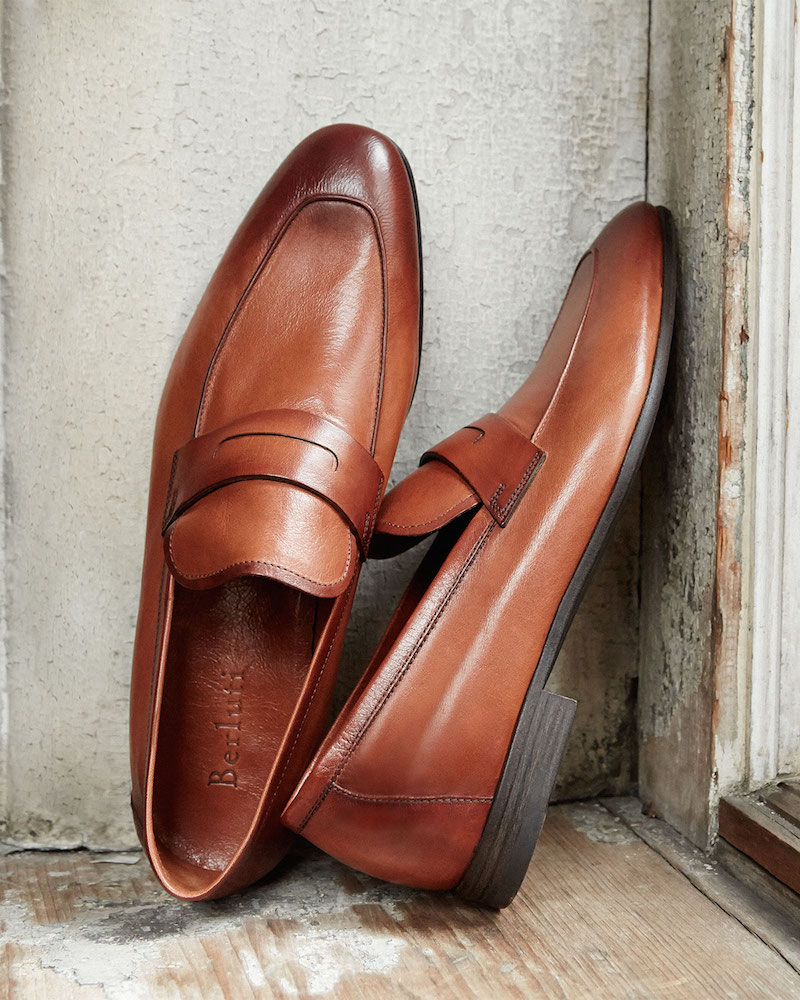 Berluti Lorenzo Unlined Leather Loafer