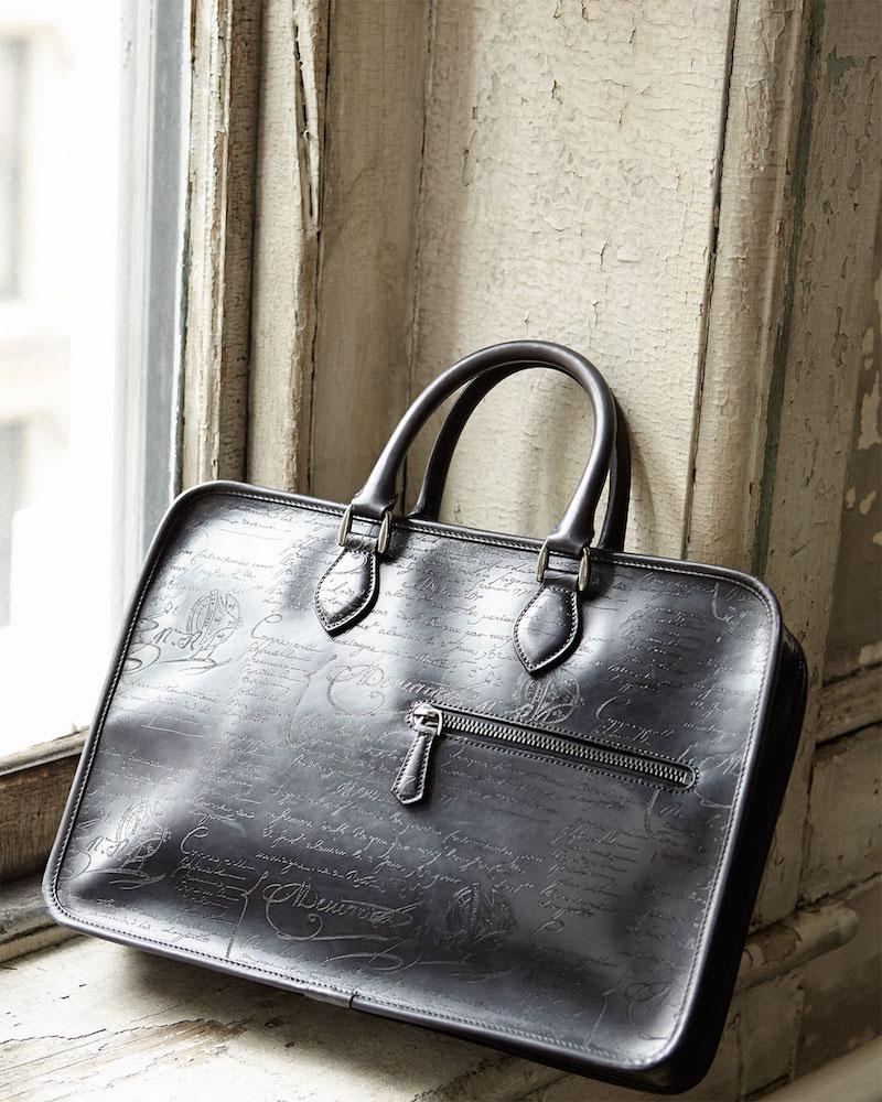 Berluti Scritto Leather Briefcase