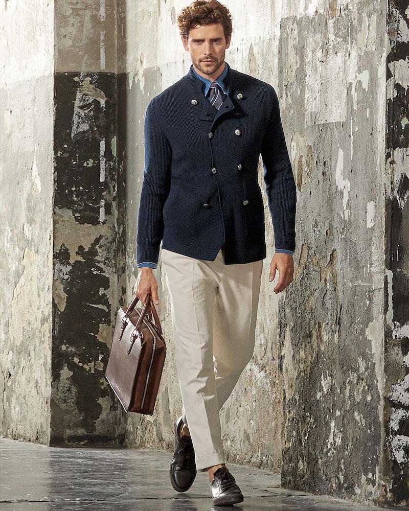 Brunello Cucinelli 7-Gauge Double-Breasted Sweater