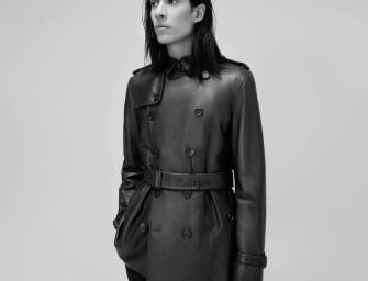 Burberry London Leather Trench Coat