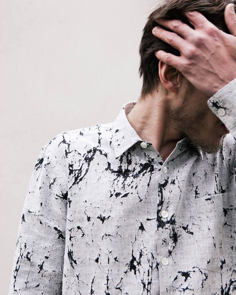 Our Legacy First Shirt in Cracked Linen