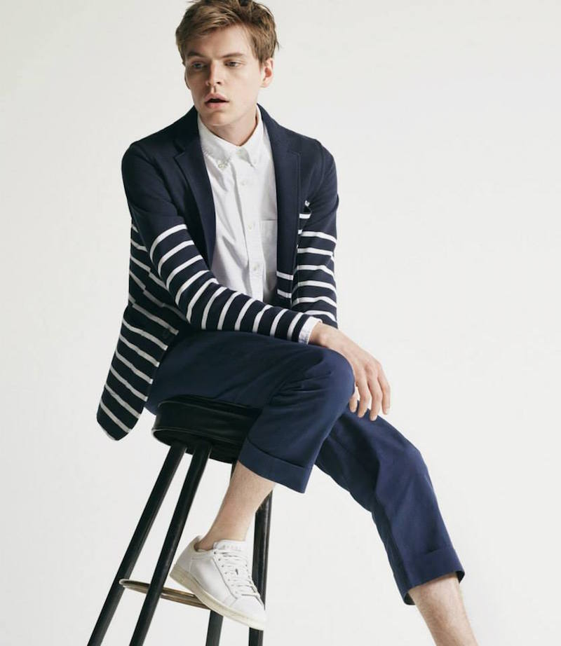 Wooster + Lardini Nautical Stripe Two-Button Sportcoat