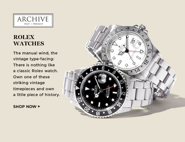 ARCHIVE: Rolex Watches at MYHABIT