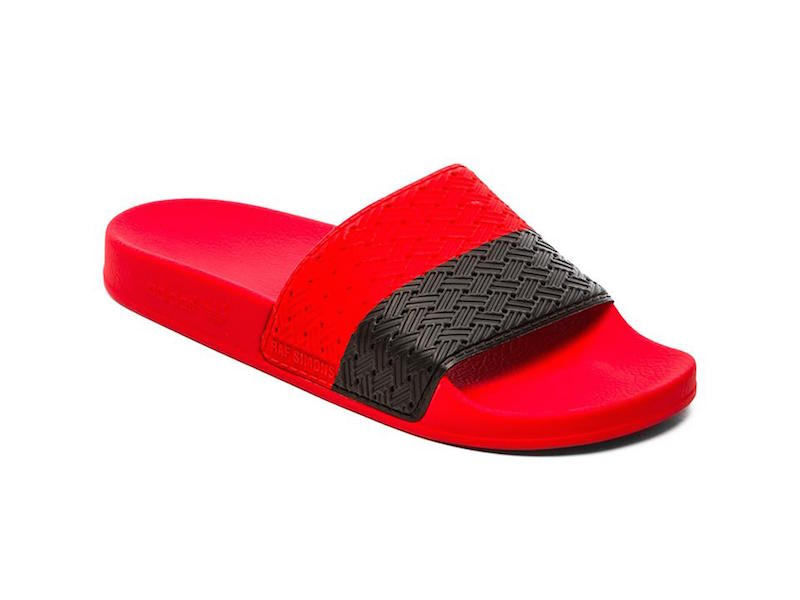 adidas by Raf Simons Two Tone Adilette Slides_Red