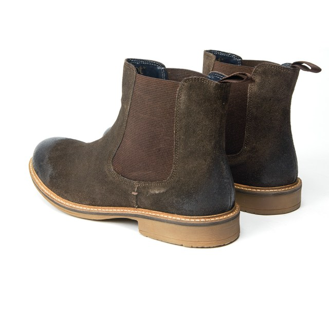 Redfoot Clough Suede Chelsea Boot in Brown