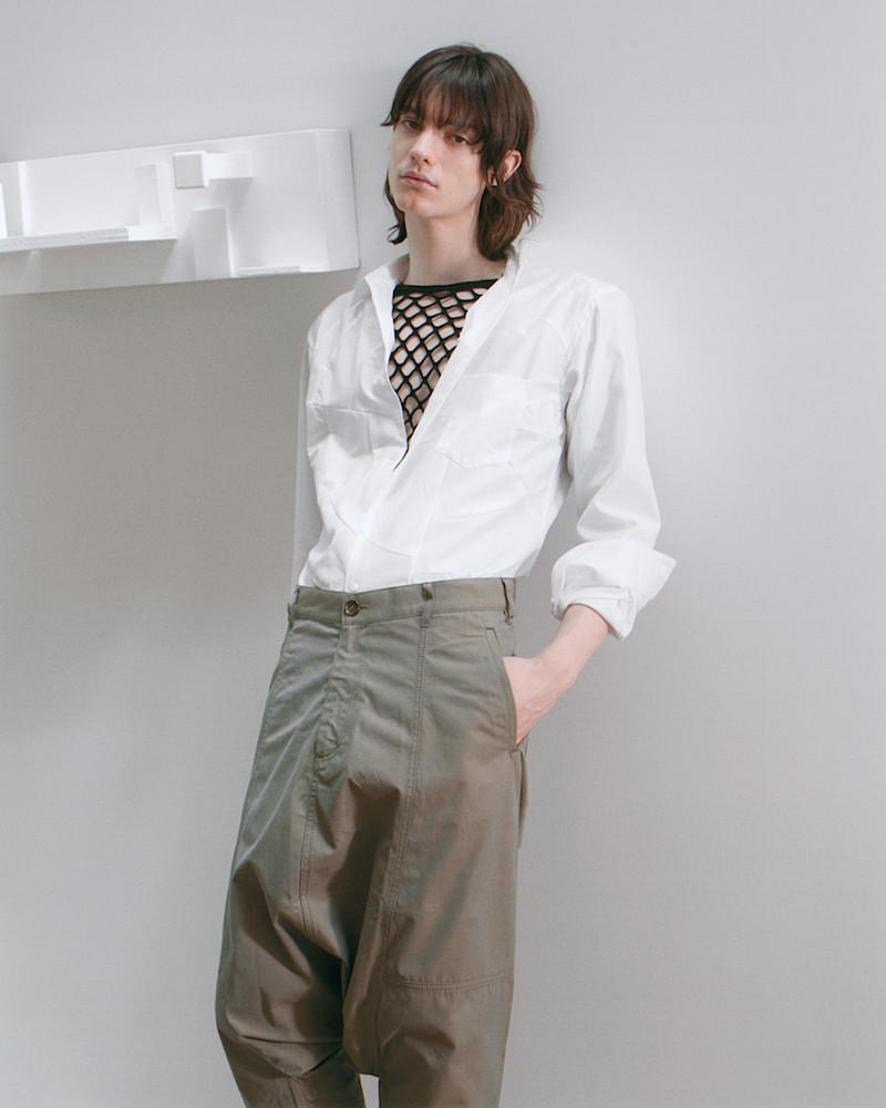 Comme des Garçons Homme Plus White Oversized Button-Up Shirt