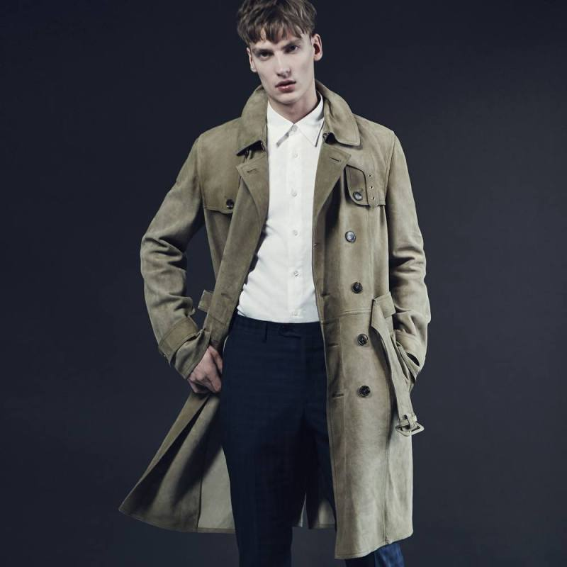Gucci Suede Trench Coat