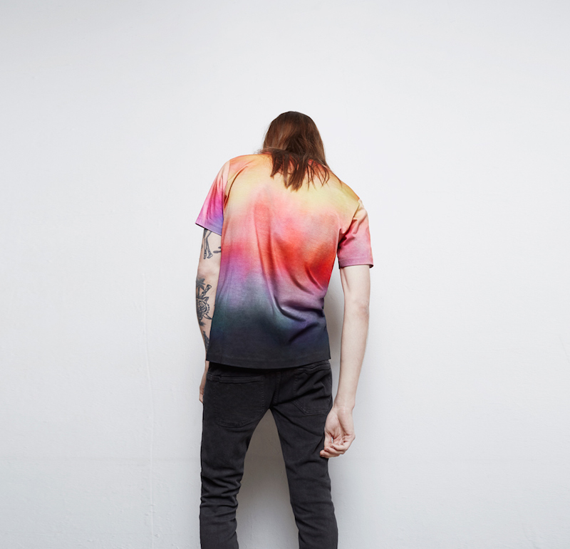 Paul Smith Pink & Blue Mari Print T-Shirt