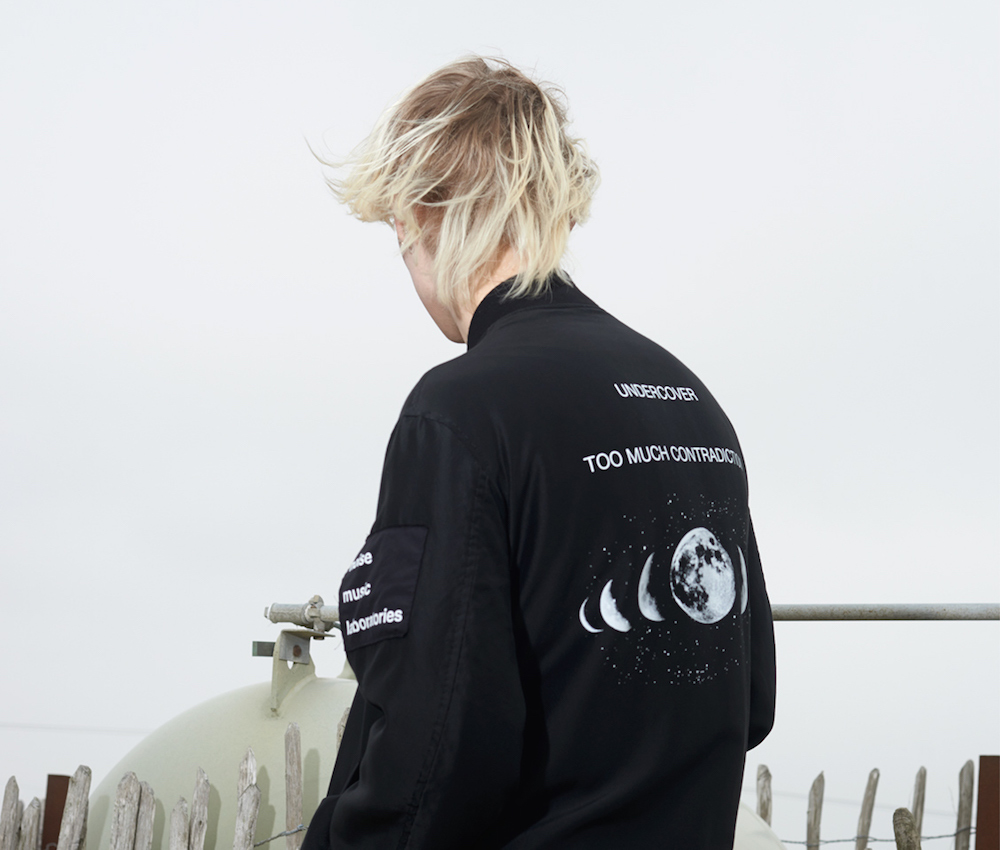 Undercover Black Patch Bomber Jacket