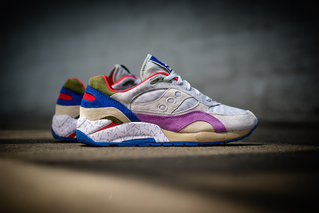 Bodega x Saucony G9 Shadow 6 Pattern Recognition Grey Purple_2