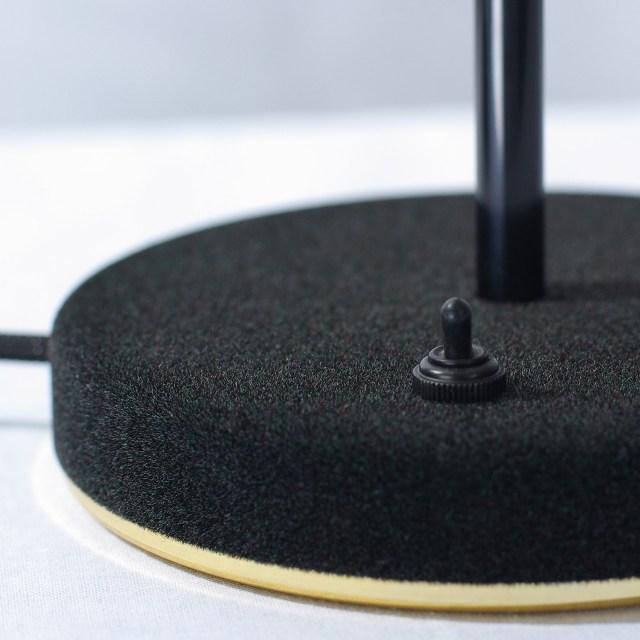 SWAB Design Mob Velvet Table Lamp in Black & Black Cord