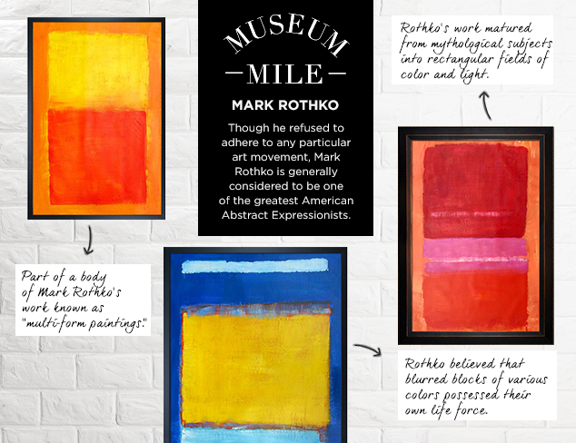 Museum Mile Mark Rothko at MYHABIT