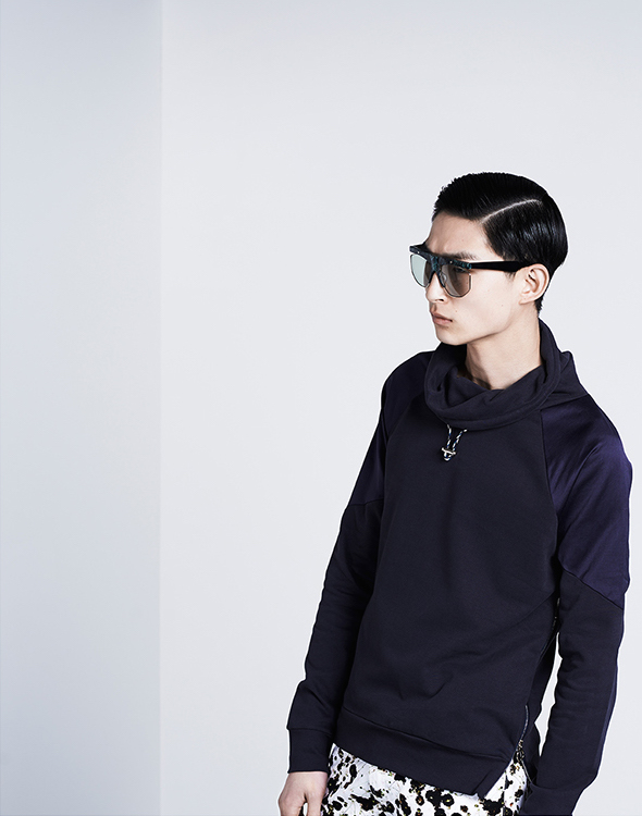 Paul Smith Funnel-neck Side-zip Sweatshirt