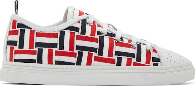 Thom Browne Tri-Color Grosgrain Basketweave Sneakers_1