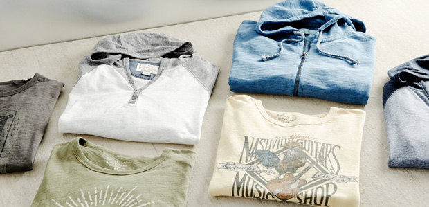 Men's Casual Tees & Jeans Featuring Lucky Brand at Rue La La