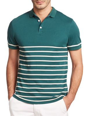 AG Green Label Sebastian Striped Polo