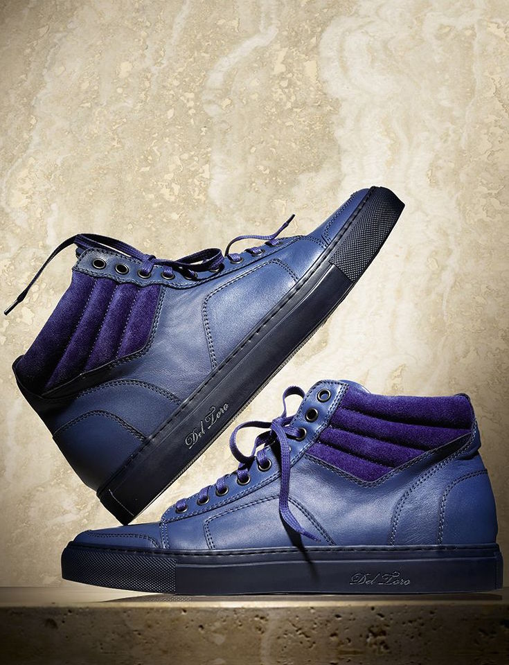 Del Toro Leather Boxing Sneakers