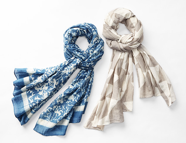 Perfectly Detailed Summer Scarves at MYHABIT