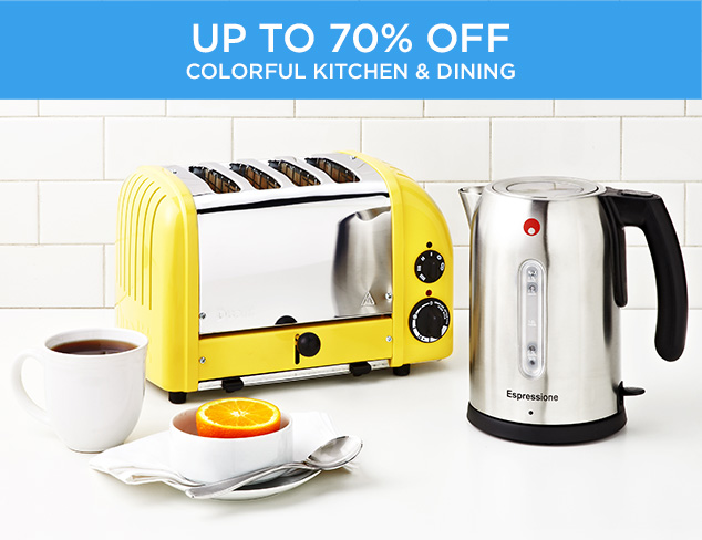 Up to 70 Off Colorful Kitchen & Dining at MYHABIT