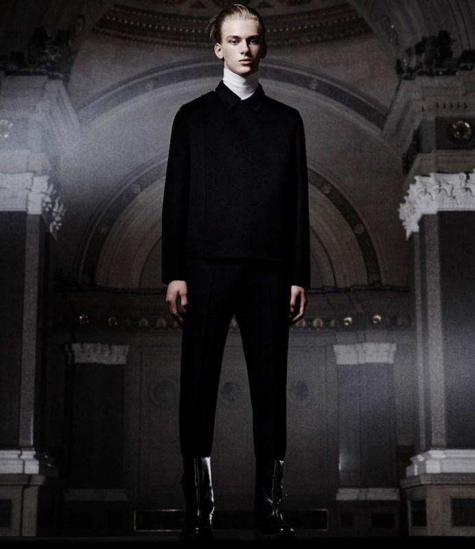 Balenciaga Crossover-Placket Coat