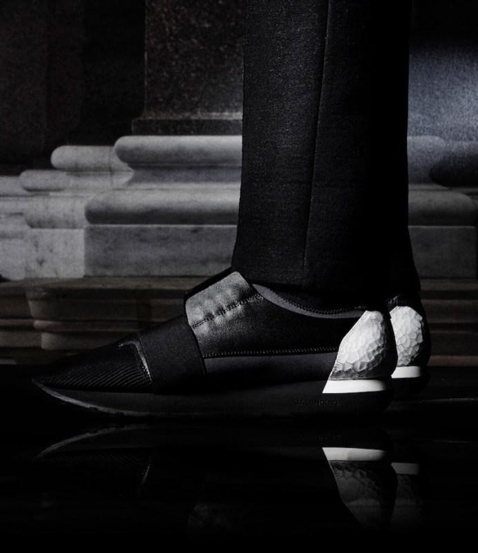 Balenciaga Multi-Material Race Sneakers