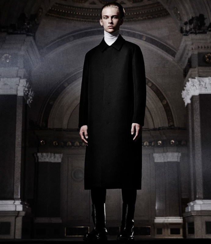 Balenciaga Twill Long Coat