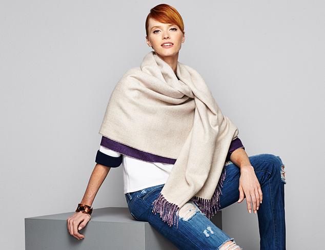 Cashmere Essentials Wraps & More at MYHABIT