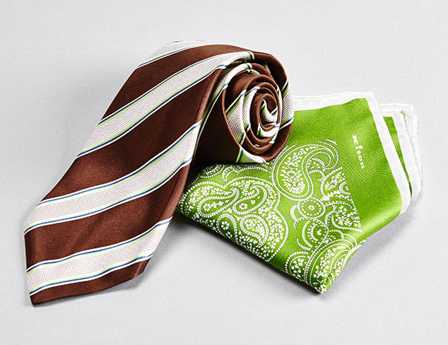 Designer Ties & Pocket Squares feat. Kiton at MYHABIT