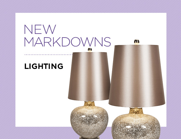 New Markdowns Lighting at MYHABIT