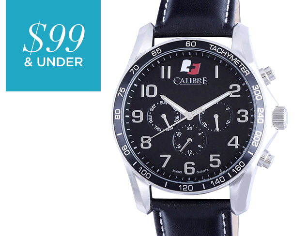 $99 & Under Leather Band Watches at MYHABIT