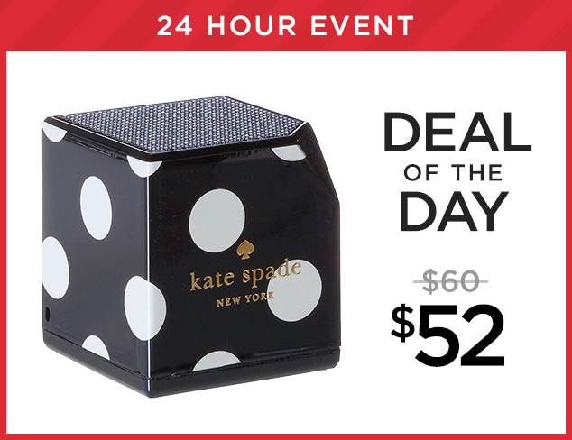 Deal of the Day Kate Spade Speaker at $52 at MYHABIT