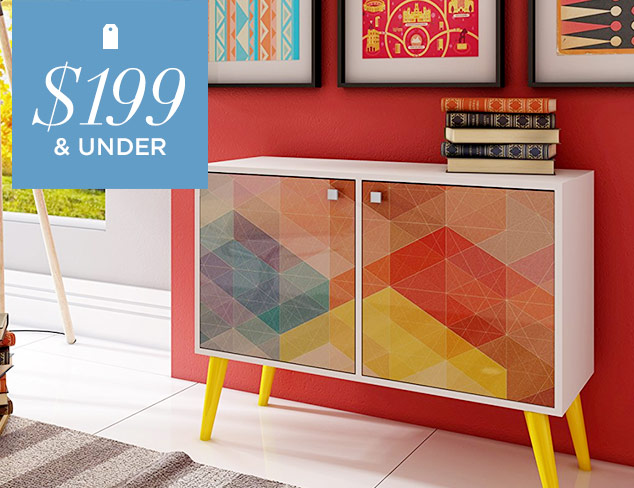 Under $199 Furniture Finds at MYHABIT
